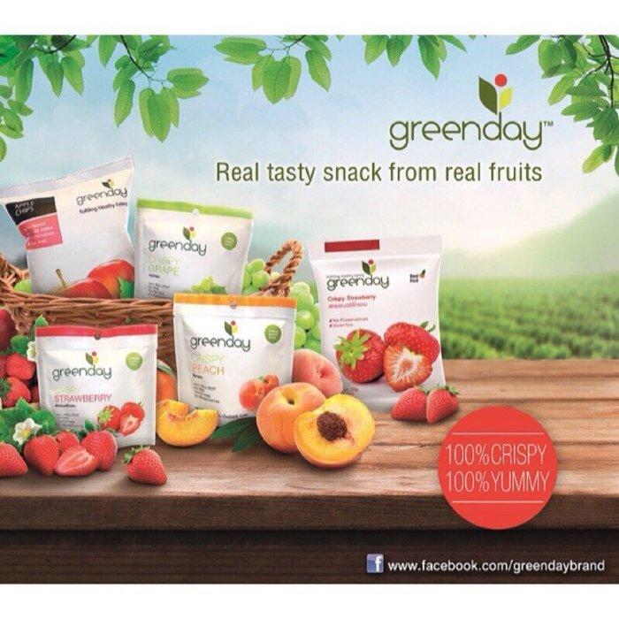 泰國 greenday 真空乾燥果乾 草莓乾 綜合水果