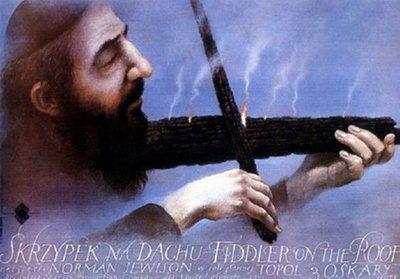 屋頂上的提琴手-Fiddler on the Roof (1990)波蘭版電影海報