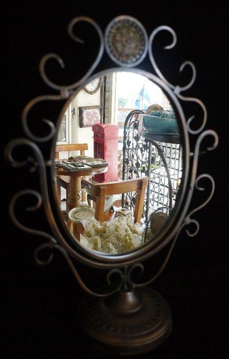 英式古典橢圓鏡桌上鏡化妝鏡 [布拉格家居]
