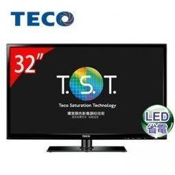 免運費 TECO 東元 32吋 LED 液晶 電視/顯示器+視訊盒 TL32A3TRE 勝禾聯聲寶 TL3211TRE