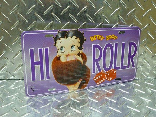 (I LOVE樂多)USA Betty Boop美式裝飾(立體)車牌 可掛於家中.店家.方間. 玄關當裝飾品喔