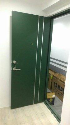 (巨光)設計師最愛超質感套房專用-值卡單色硫化銅門含門框/水平鎖$5900限純白/墨綠沙田