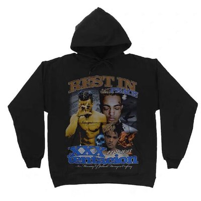 【Result】XXXTentacion Vintage 傳奇 1998-2018 Hoodie 帽Tee hiphop
