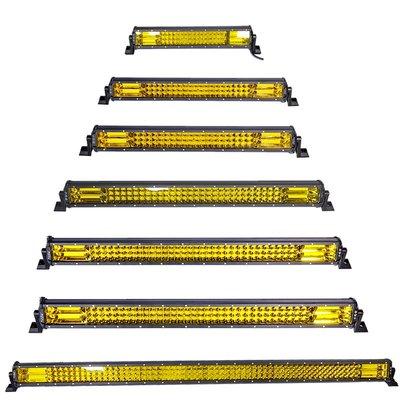@振宇汽車汽車LED長條射燈12V24V強光射燈車頂改裝燈中網加裝LED強遠光霧燈