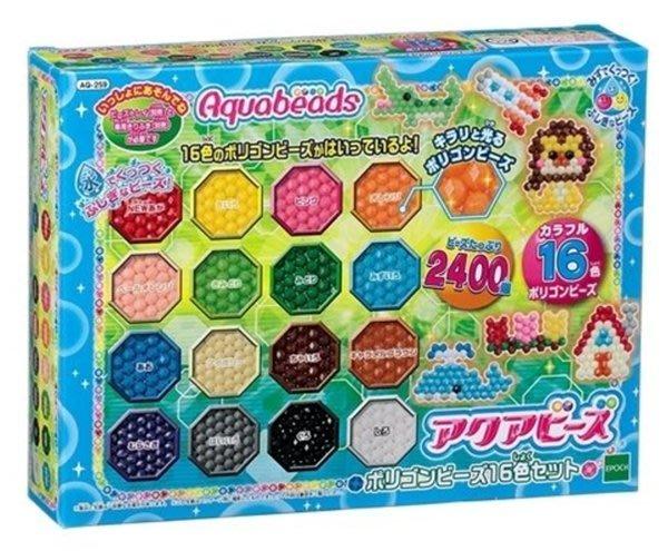 【阿LIN】30810A 16色多角珠珠補充包水串珠 DIY水串珠  手作 手工 美勞 ST安全玩具