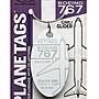 DZ東洲模玩館美國PLANETAGS鑰匙扣行李牌波音767GIMLI GLIDE 吉姆利滑翔機蒙皮