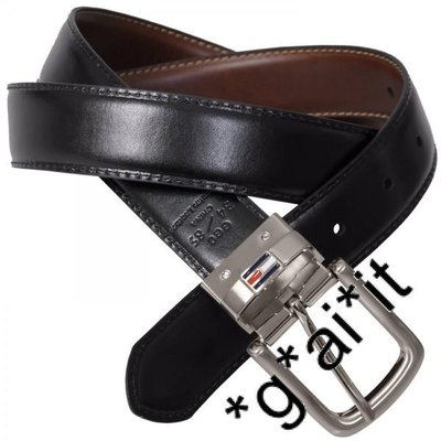 Tommy Hilfiger men reversible belt black/brown, size 34, New