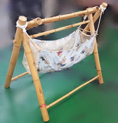 宏品二手家具館  中古家電  辦公傢俱  ~B1013寶寶布袋搖籃/ 嬰兒推車 /外出用具/ 嬰兒商品/仿古家具4折買賣