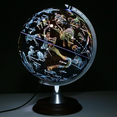 地球儀會發光的星座地球儀臺燈20cm中學生小學生用小號高清兒童擺件哆啦A珍