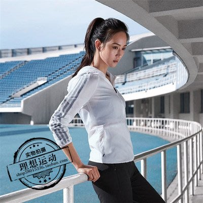 Adidas 愛迪達 春秋款 運動連帽夾克 梭織休閒外套 薄款風衣 白 CF3871 S-XL