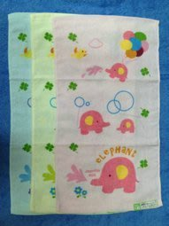 【B合併商品】1421 水水大象印花童巾 童巾 台灣製 $280/12條
