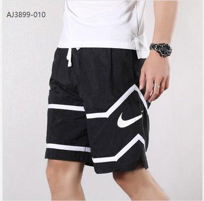 2021新款!NIKE THROWBACK SHORT 籃球褲 運動短褲 AJ8 黑白色 勾勾-LK19051
