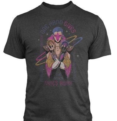 【丹】J!NX_OVERWATCH ONE HAND GIVES THE OTHER 鬥陣特攻 莫伊拉 男版 T恤