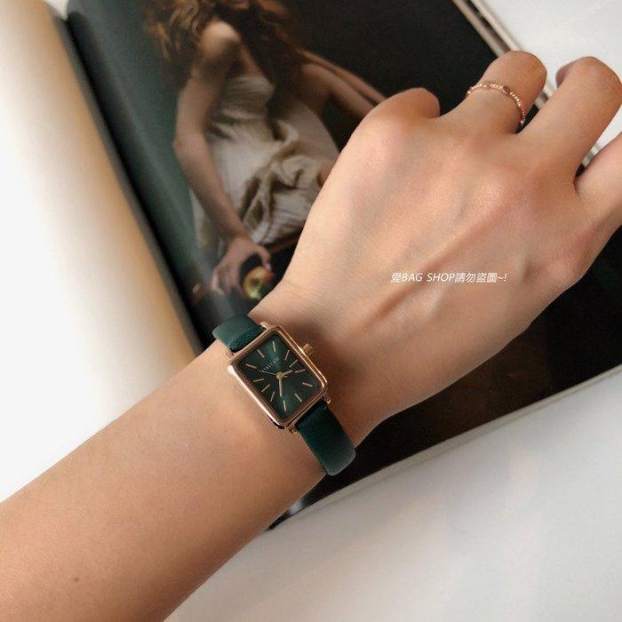 愛BAG SHOP 韓國代購 低調奢華感真皮錶帶同色系錶帶方型錶正韓日本精密機芯石英錶 950 共2色 MK COACH