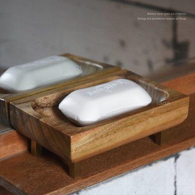 木紋純手工實木銅腳香皂盒 泰式 日式 瀝水肥皂盒 無蓋 家居置物架 無印木紋 天然木製肥皂架 ※COLOUR杯盤囊集※