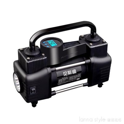 12V車載充氣泵雙缸高壓便攜式小轎車輪胎汽車用打氣泵筒電動 【台灣現貨】 YTL