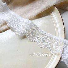 『ღIAsa 愛莎ღ手作雜貨』小白兔蕾絲花邊DIY服裝輔料網紗刺繡家居沙發窗簾裝飾布