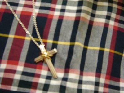 TIFFANY  項鍊   經典款  純銀+K金   十字架項鍊
