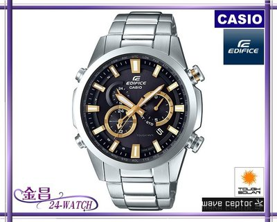 CASIO_EDIFICE #EQW-T640 YD-1 A 9台灣公司貨太陽能六局電波(黑金)*24-WATCH_金昌