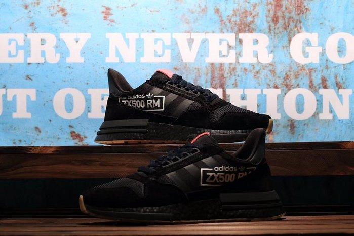 Adidas Originals ZX500 RM Boost 黑粉 麂皮 運動休閑跑步鞋 男女鞋BB7443