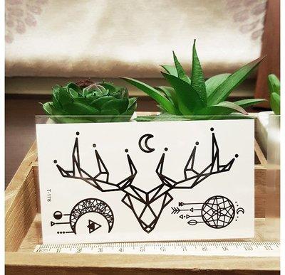 【萌古屋】羊角捕夢網 - 男女防水紋身貼紙刺青貼紙 T-178