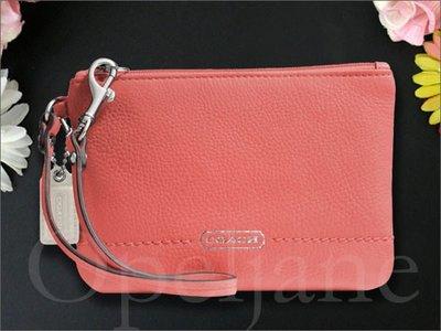 美國 Coach 粉色真皮手拿包手腕包可放IPHONE手機現貨預購VIP 免運 愛COACH包包