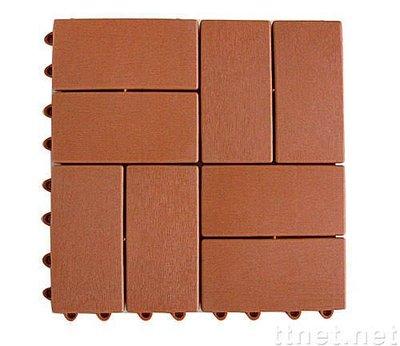 木紋排水板防滑墊拼裝式2*4木紋地磚組合地墊木紋地磚排水板排水墊止滑板木紋地磚防滑