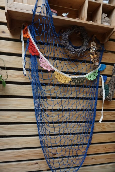 {{地中海風}}漁網/拍攝道具/壁掛裝飾/派對裝飾 (無貝殼款)