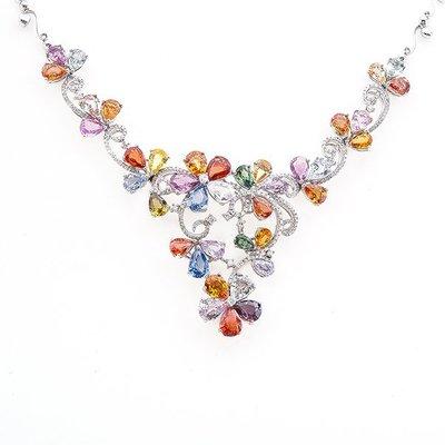 【JHT金宏總珠寶/GIA鑽石專賣】34.40ct天然彩寶鑽石套鍊/材質:18K(Z00006)