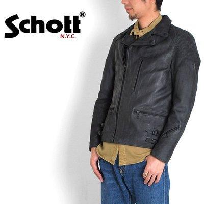 [ Satisfaction ] Schott經典仿舊刷色龜甲騎士斜拉鍊牛皮皮衣