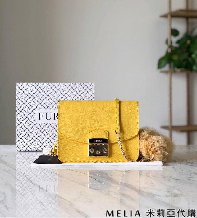 Melia 米莉亞代購 商城特價 數量有限 每日更新 19ss FURLA 芙拉 單肩斜背包 中號 送兔毛吊飾 黃色
