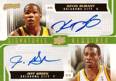 【ROL精選】'08-09 UD MVP KEVIN DURANT/JEFF GREEN (RC-AU)