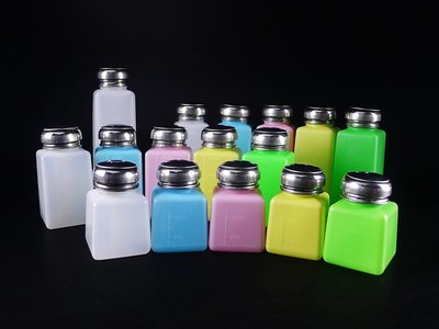 ◇GIDI 儀器◇ 塑膠酒精瓶(白色)500ml,按壓瓶 溶劑瓶 自吸瓶 玻璃酒精瓶 可裝去光水 洗板水