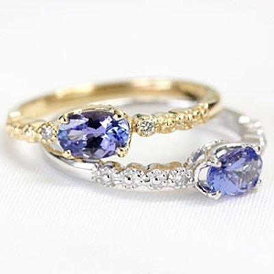 【馬格斯珠寶】18K 日式輕珠寶 丹泉石戒指 坦桑石戒指  agete類似款 專櫃優惠價 247