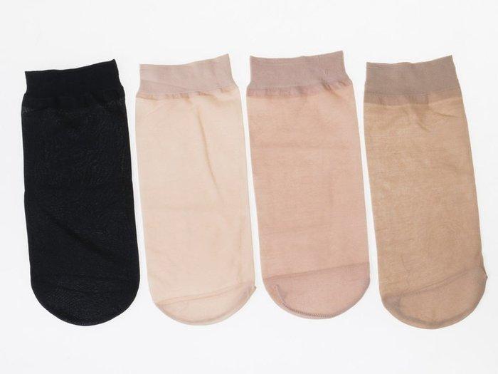 【幸福2次方】女性短款防勾絲襪 透膚超薄絲質短絲襪 防磨腳踝絲襪 10雙裝 - 黑 / 淺膚  / 中膚 / 深膚