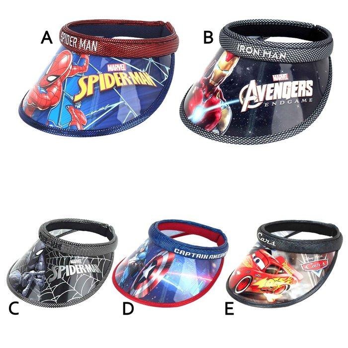 遮陽帽(5款)-蜘蛛人 鋼鐵人 美國隊長 MAVEL CARS 迪士尼 韓國進口