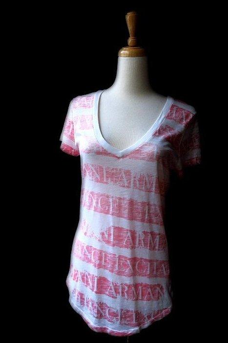 *Beauty*ARMANI EXCHANGE紅色條紋短袖棉T恤 原價1690元  售1000元 JW