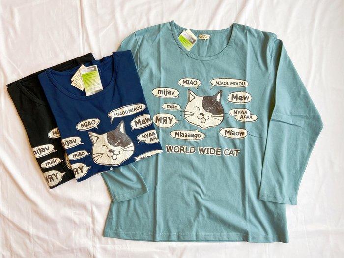 日本卡拉貓~貓咪world wide cat長袖上衣