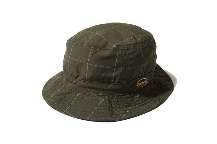 """[ LAB Taipei ]  SAYHELLO """" CHECK WASHED HAT """" (Brown)"""