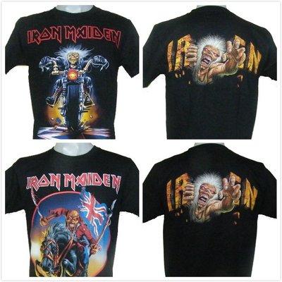 【搖滾帝國】英國重金屬樂團Iron Maiden 原廠進口t-shirt 創意骷髏圖案 S號系列三 個性女裝 百搭風格