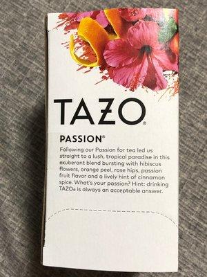 [Aphrodite]TAZO Tea,Passion Herbal Tea泰舒草本茶 無咖啡因(20包/盒) 有現貨