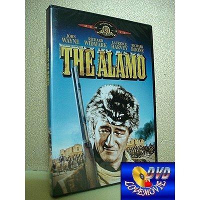 絕版片:三區正版【邊城英烈傳The Alamo(1960)】DVD全新未拆《紅河谷、雙虎屠龍、大地驚雷:約翰韋恩》