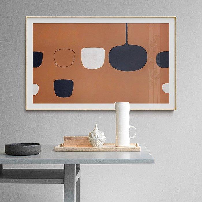 北歐風格現代簡約公司勵志牆抽象裝飾畫畫芯高清微噴打印(多款可選)