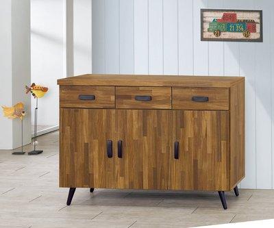 【南洋風休閒傢俱】精選餐櫃系列-碗盤櫃組 餐櫃 櫥櫃 收納櫃-集層木4尺碗盤餐櫃 CY357-417