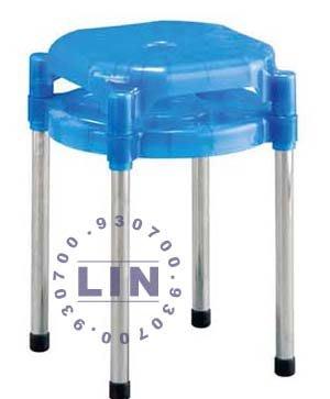 【品特優家具倉儲】R078-22餐椅塑膠椅中洞椅電鍍腳