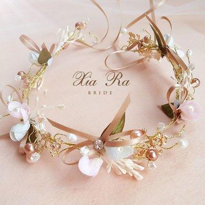 髮飾 韓式甜美森女系超仙兒童花環頭飾可愛 歐雷爾藝術館
