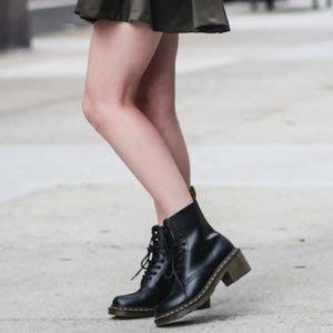 【 皮先生潮鋪 】Dr.martens馬丁鞋 CLEMENCY SMOOTH 8孔 黑色高跟馬汀靴馬丁靴