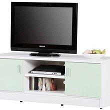 【P975-01】 4.3尺塑鋼電視櫃(DA-122)(綠門、白色)