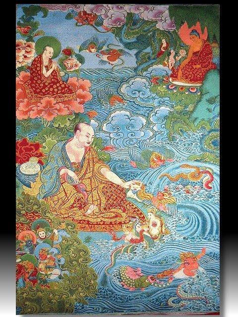 【 金王記拍寶網 】S1402  中國西藏藏密佛像刺繡唐卡 刺繡 (大張) 一張 完美罕見~