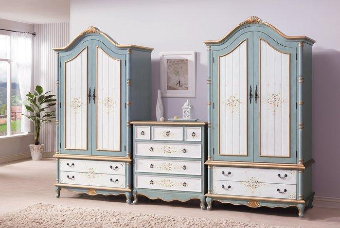 歐式新古典家具臥室衣櫃高端別墅儲物櫃(兩色可選)